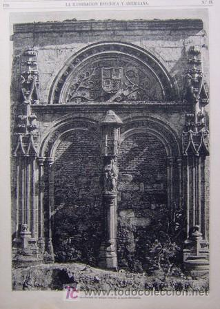 AVILA - PORTADA DEL ANTIGUO HOSPITAL DE SANTA ESCOLASTICA (Arte - Grabados - Modernos hasta el siglo XIX)