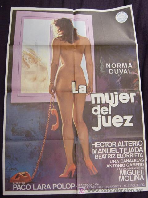 Cine: CARTEL ORIGINAL DE LA PELICULA LA MUJER DEL JUEZ - Foto 1 - 12955691