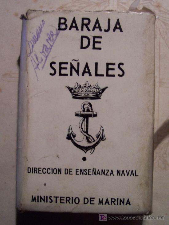 Barajas de cartas: baraja de señales, direccion de enseñanza naval, ministerio de marina, 1972 - Foto 1 - 23263886
