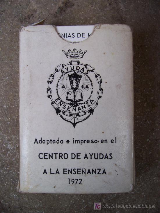 Barajas de cartas: baraja de señales, direccion de enseñanza naval, ministerio de marina, 1972 - Foto 2 - 23263886