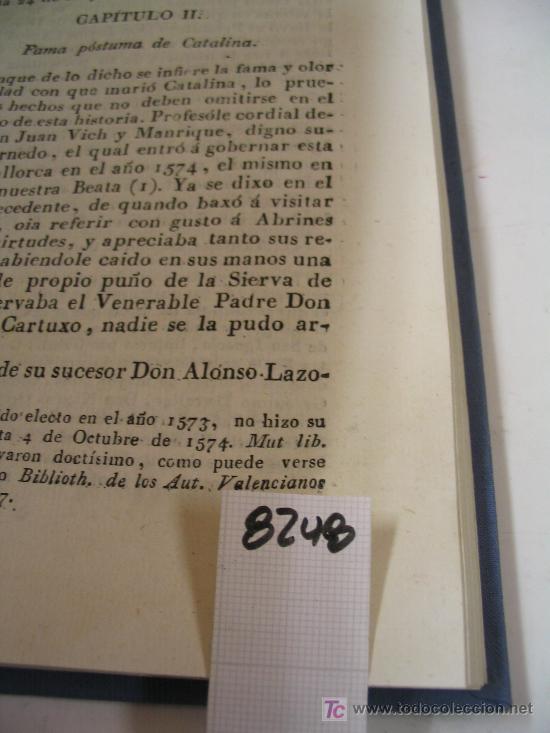 Libros antiguos: VIDA DE LA BEATA CATALINA TOMASANTONIO DESPUIG Y DAMETO1816 - Foto 2 - 21913071