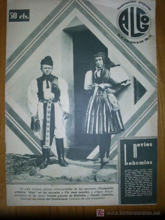 Revista ALGO, Ilustración Popular - 1935 * SIERRA DE GUADARRAMA * FILIPINAS * NAZARET, VALENCIA * (Papel - Revistas y Periódicos Antiguos (hasta 1.939))