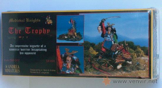 Hobbys: Andrea SM-S02. Figuras medievales lucha de Samurais, (El Trofeo) 54mm. - Foto 1 - 24467069