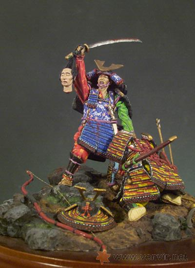 Hobbys: Andrea SM-S02. Figuras medievales lucha de Samurais, (El Trofeo) 54mm. - Foto 2 - 24467069